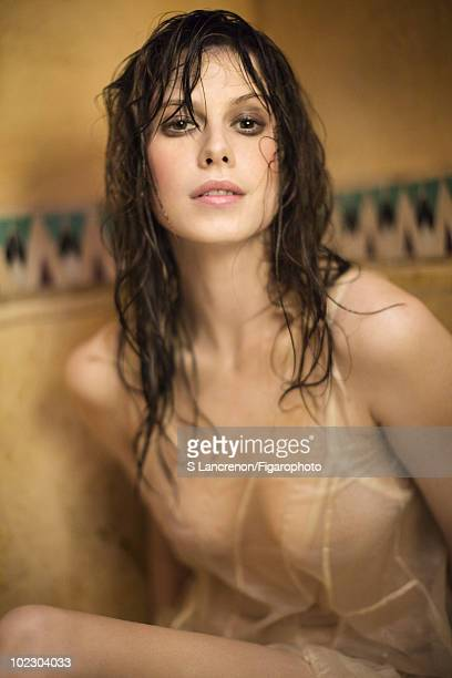 Model and actress Elettra Wiedemann at a portrait session for Madame Figaro in Marrakech January 2010 Slip by Moon Young Hee ID Number 95850014...
