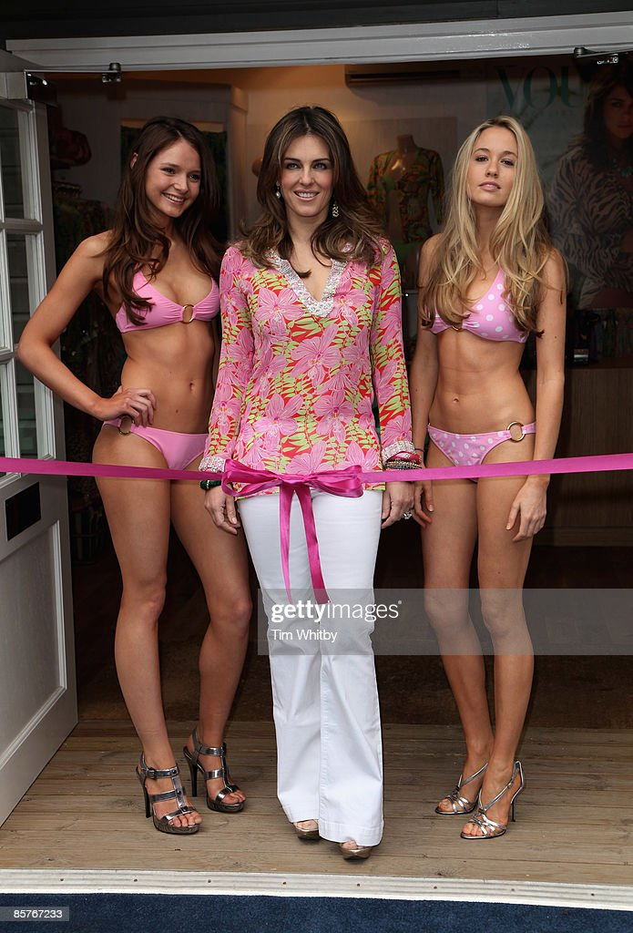 Model And Actress Elizabeth Hurley C Launches Her Standalone Boutique Designed To