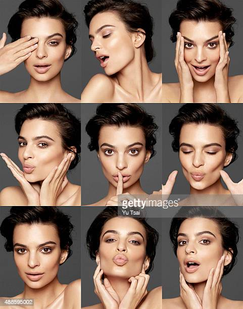 Model and actress Emily Ratajkowski is photographed for a beauty and skin editorial for on March 13, 2015 in Los Angeles, California.