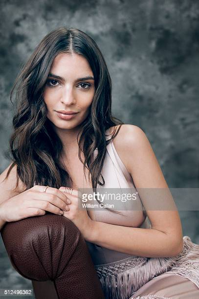 Model and actress Emily Ratajkowski poses for a portrait at the 18th Costume Designers Guild Awards at The Beverly Hilton Hotel on February 23 2016...