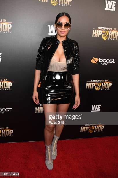 Model and actress Estelita Quintero attends Growing Up Hip Hop Atlanta season 2 premiere party at Woodruff Arts Center on January 9 2018 in Atlanta...