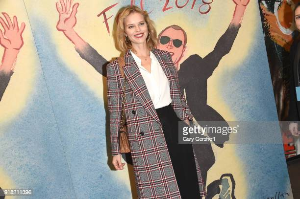 Model and actress Eva Herzigova attends the Michael Kors fashion show during New York Fashion Week at Vivian Beaumont Theatre on February 14 2018 in...