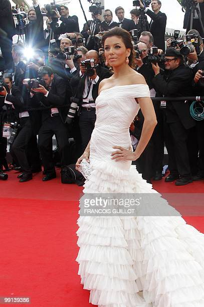 US model and actress Eva Longoria arrives for the opening ceremony and screening of 'Robin Hood' presented out of competition at the 63rd Cannes Film...