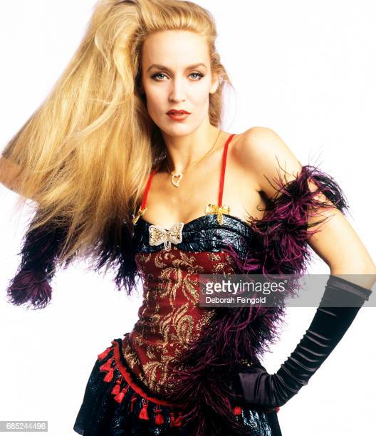 Model and actress Jerry Hall poses for a portrait in February 1985 in New Jersey.