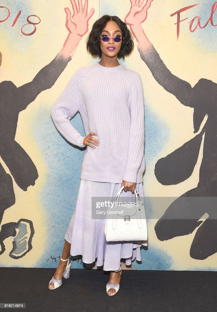 Model and actress Jourdan Dunn attends the Michael Kors fashion show during New York Fashion Week at Vivian Beaumont Theatre on February 14, 2018 in New York City.