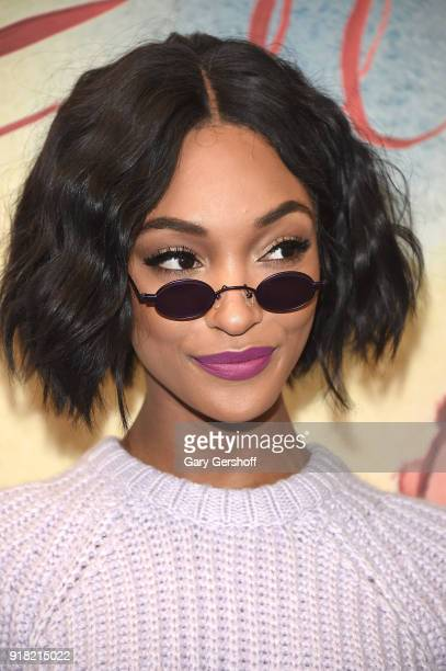 Model and actress Jourdan Dunn attends the Michael Kors fashion show during New York Fashion Week at Vivian Beaumont Theatre on February 14 2018 in...
