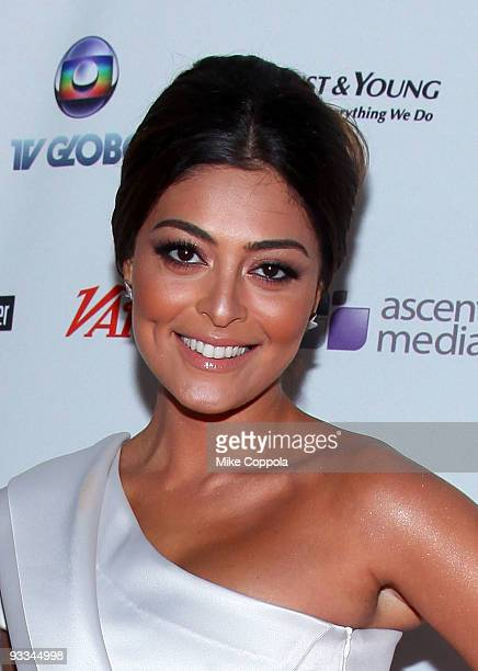 Model and actress Juliana Paes attends the 37th International Emmy Awards gala at the New York Hilton and Towers on November 23 2009 in New York City