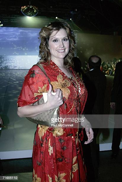 Model and actress Kate Fischer at the Myer Spring/Summer Fashion Show 2006 at the Royal Hall of Industries on August 16 2006 in Sydney Australia
