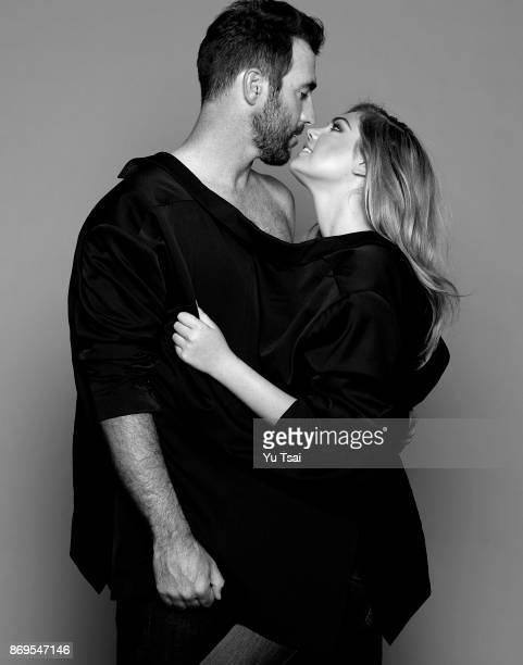 Model and actress Kate Upton and professional baseball Justin Verlander are photographed for Self Assignment on July 29 2014 in Los Angeles California