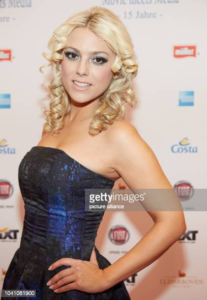 Model and actress Katie Steiner pose during the Movie Meets Media event at the Hotel Atlantic Kempinski in Hamburg Germany 01 December 2014...