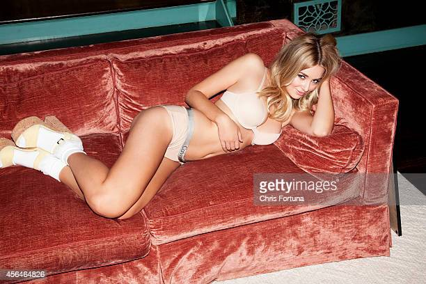 Model and actress Keeley Hazell is photographed for FHM Magazine on February 1 2014 in Los Angeles California