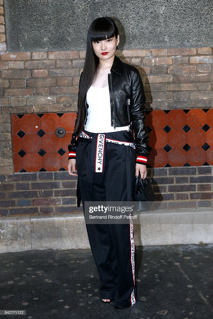 Model and actress Kozue Akimoto attends the Givenchy Menswear Spring/Summer 2017 show as part of Paris Fashion Week on June 24, 2016 in Paris, France.