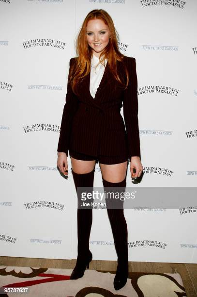 Model and actress Lily Cole attends the premiere of 'The Imaginarium of Doctor Parnassus' at the Crosby Street Hotel on December 7 2009 in New York...