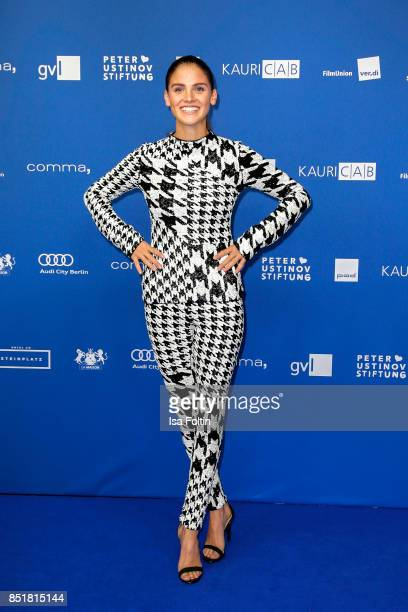 Model and actress Lisa Tomaschewsky was wearing, H&M Design Award by Richard Quinn during the 6th German Actor Award Ceremony at Zoo Palast on...