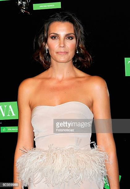Model and actress Mar Flores arrives to the 2009 Telva Magazine Fashion Awards ceremony held at the Teatro del Canal on October 26 2009 in Madrid...