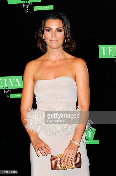 Model and actress Mar Flores arrives to the 2009 Telva Magazine Fashion Awards ceremony, held at the Teatro del Canal on October 26, 2009 in Madrid,...