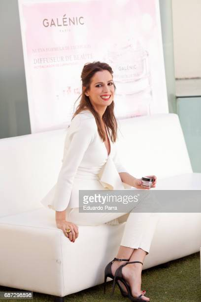 Model and actress Mar Saura attends the 'Galenic' presentation at Pons Foundation on May 23 2017 in Madrid Spain
