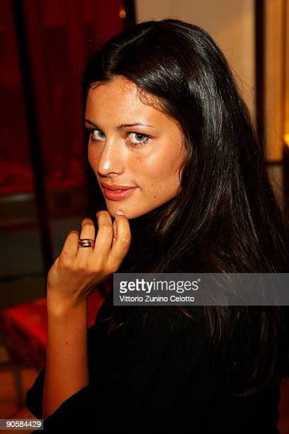 Model and Actress Marica Pellegrinelli attend the VOGUE Fashion's Night Out at the Cartier boutique on September 10 2009 in Milan Italy