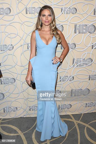 Model and actress Nina Senicar attends HBO's Official Golden Globe Awards After Party at Circa 55 Restaurant on January 8 2017 in Beverly Hills...