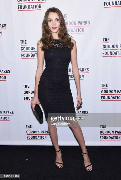 Model and actress Olesya Senchenko attends the 2017 Gordon Parks Foundation Awards gala at Cipriani 42nd Street on June 6 2017 in New York City