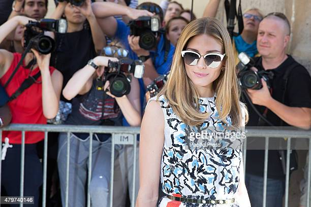 US model and actress Olivia Palermo poses prior to attend Christian Dior fall winter 20152016 show