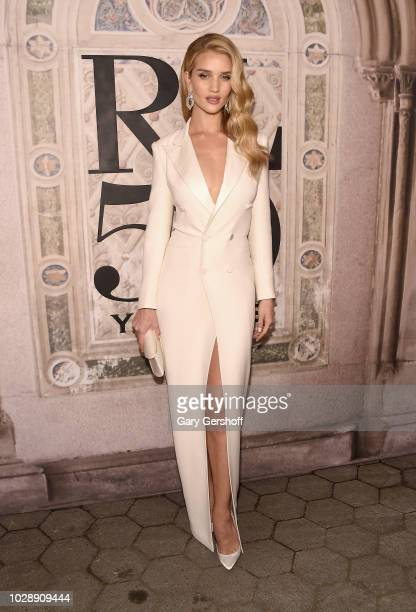 Model and actress Rose HuntingtonWhiteley attends the Ralph Lauren 50th Anniversary event during New York Fashion Week at Bethesda Terrace on...