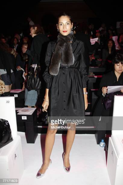 Model and actress Tasha de Vasconcelos attends the Valentino fashion show, during the Spring/Summer 2008 ready-to-wear collection show at Carroussel...