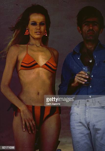Model and actress Veruschka with Franco Robartelli in Acapulco February 1966