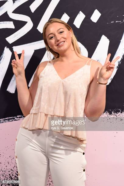Model and AerieReal Role Model Iskra Lawrence poses during Glamour Celebrates 2017 Women Of The Year Live Summit at Brooklyn Museum on November 13...