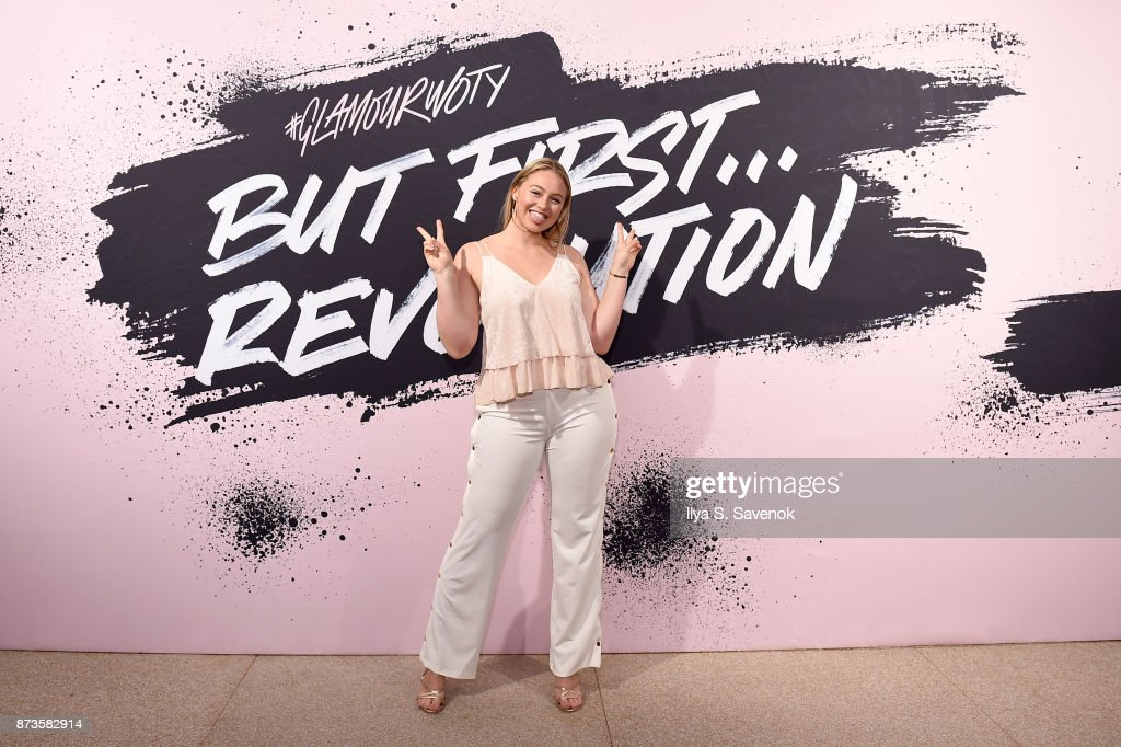 Model and AerieReal Role Model Iskra Lawrence poses during Glamour Celebrates 2017 Women Of The Year Live Summit at Brooklyn Museum on November 13, 2017 in New York City.