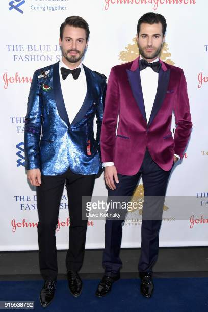 A model and Alex Lundqvist attends the Blue Jacket Fashion Show to benefit the Prostate Cancer Foundation on February 7 2018 in New York City