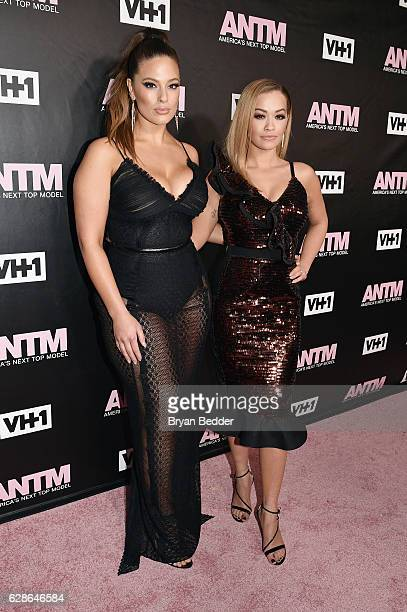 Model and ANTM Judge, Ashley Graham and singer and ANTM Judge, Rita Ora attend the VH1 America's Next Top Model premiere party at Vandal on December...