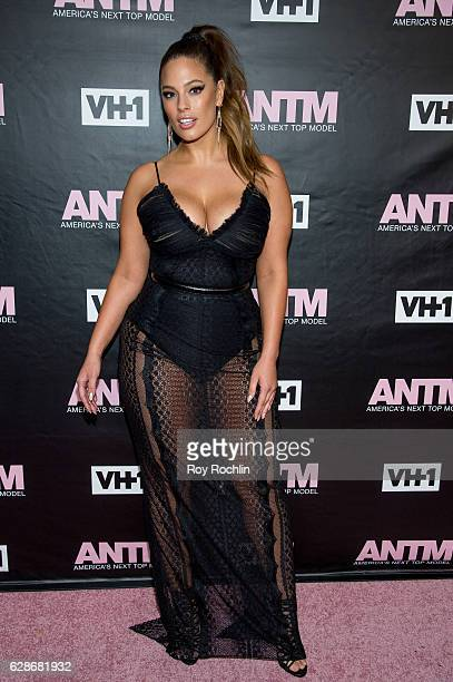 Model and ANTM Judge Ashley Graham attends VH1's 'America's Next Top Model' Premiere at Vandal on December 8 2016 in New York City