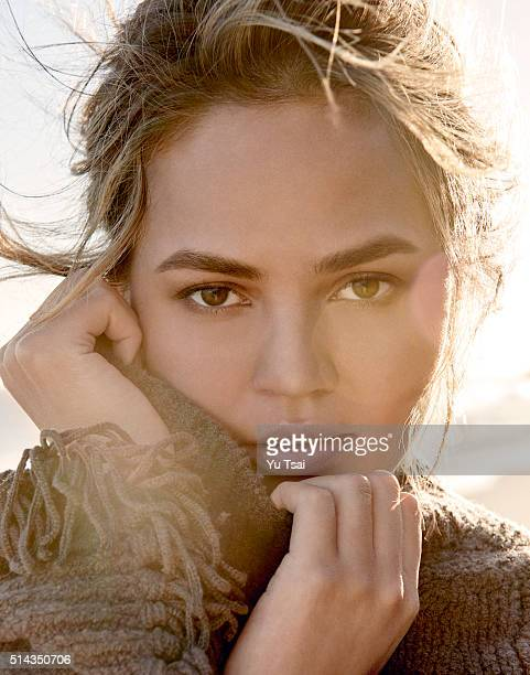 Model and author Chrissy Teigen is photographed for Vogue Thailand on August 15 2015 in Los Angeles California Published Image