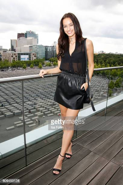 Model and blogger Jueli Mery attends the Thomas Sabo Press Cocktail during the Mercedes-Benz Fashion Week Berlin Spring/Summer 2017 at China Club on...