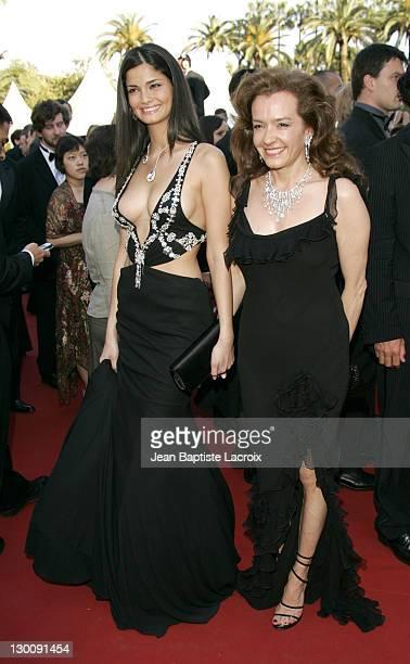 Model and Caroline GruosiScheufele during 2005 Cannes Film Festival Peindre Ou Faire L'Amour Premiere at Le Palais de Festival in Cannes France