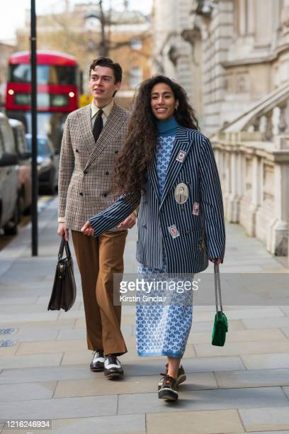 Model and creative director Mathias Le Févre wears a Dak's suit Eaton tie Frank Clegg bag Carmina shoes and an Edward Sexton shirt with Singer...