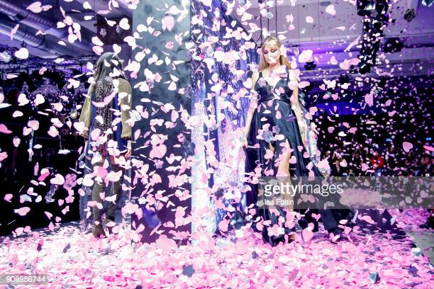 Model and designer Bonnie Strange walks the runway during the Maybelline Show 'Urban Catwalk Faces of New York' at Vollgutlager on January 18 2018 in...