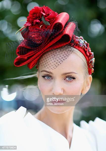 Model and designer Tatiana Korsakova attends Ladies Day at Royal Ascot Racecourse on June 18 2015 in Ascot England