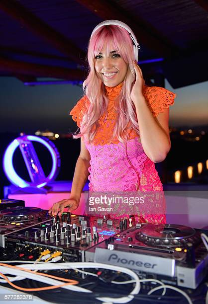 Model and DJ Amber Le Bon took to the decks for the first time as she was seen DJing at CIROC's On Arrival party in Ibiza hotspot Destino on July 18...