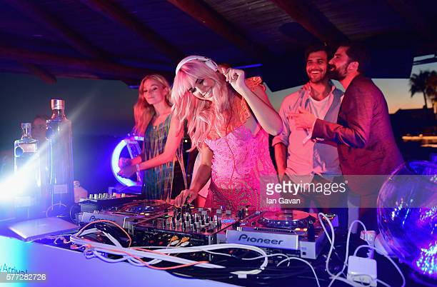 Model and DJ Amber Le Bon was joined by Clara Paget Johannes Huelb and Jack Guiness when she took to the decks for the first time as she was seen...