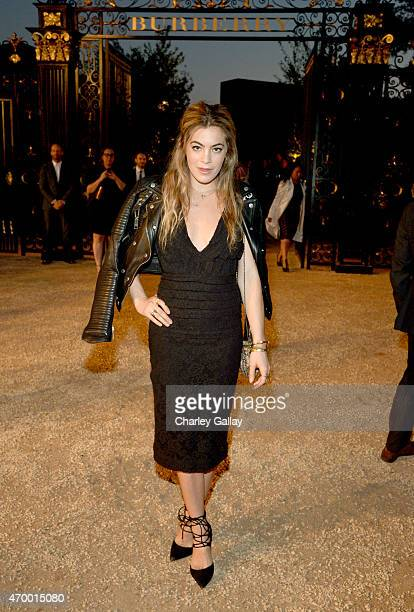 Model and DJ Chelsea Leyland attends the Burberry London in Los Angeles event at Griffith Observatory on April 16 2015 in Los Angeles California