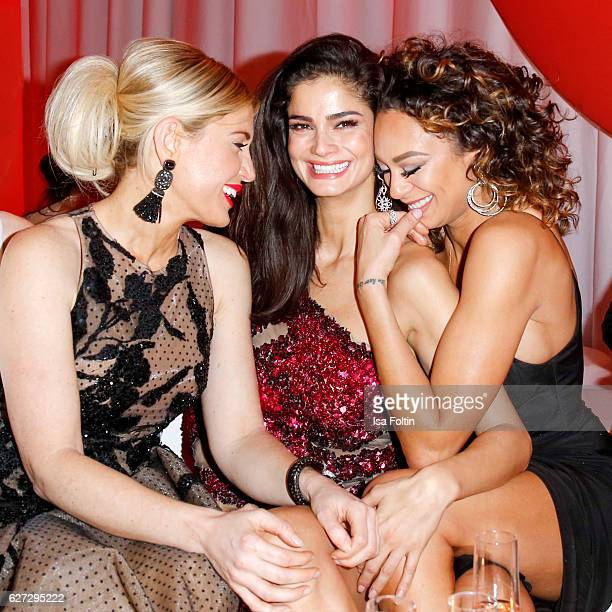 Model and fashion blogger Hofit Golan model Shermine Shahrivar and Lilly Becker attend the Mon Cheri Barbara Tag at Postpalast on December 2 2016 in...