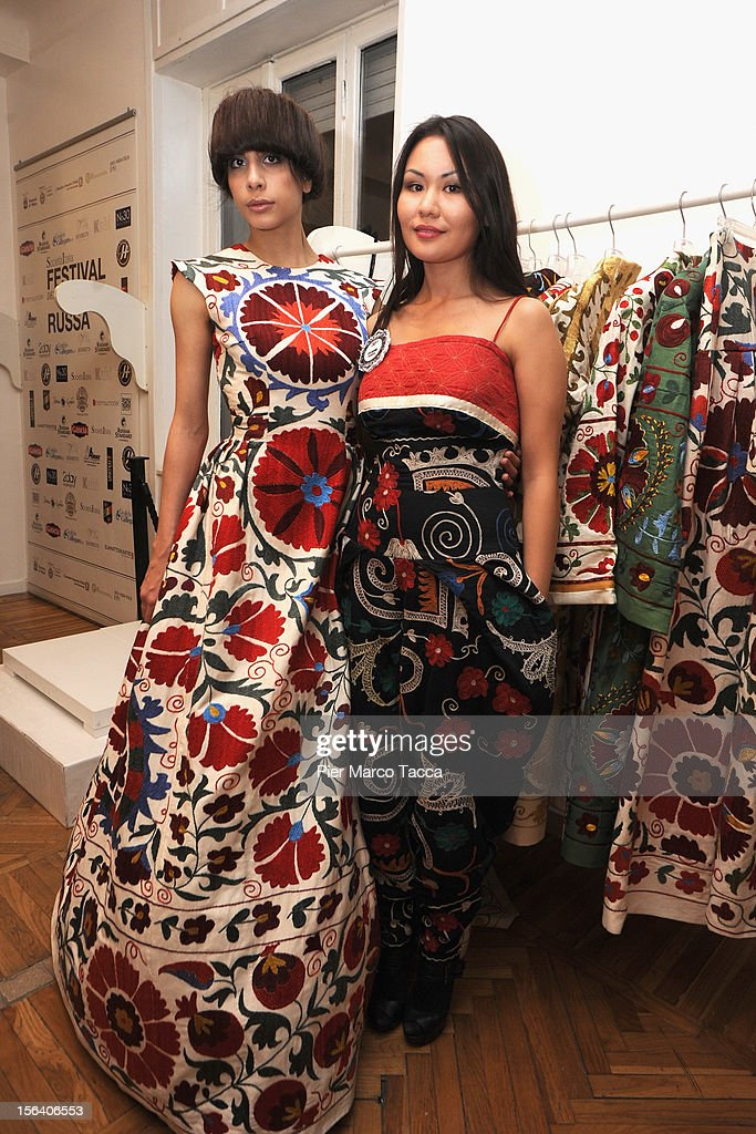 A model and Fashion designer Aya Bapani attends Russian fashion festival on November 14, 2012 in Milan, Italy.