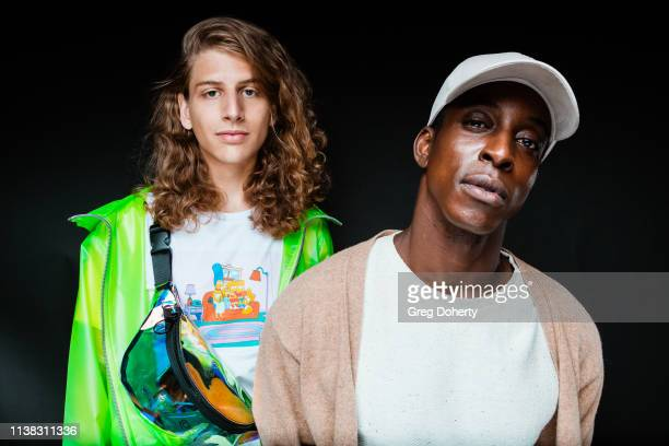 Model and fashion designer Hari Tahov and Actor/Model Shaka Smith attend the Welcome to Cannacity 'She's Smokin' Event on April 20 2019 in Los...