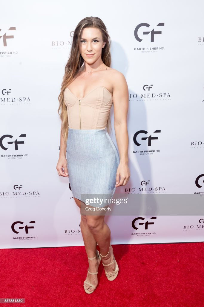 Model and Fitness Trainer McKenna Kapple attends the Official Launch Party Of Dr. Garth Fisher's BioMed Spa at Garth Fisher MD on August 22, 2017 in Beverly Hills, California.