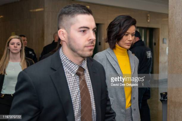 Model and former actress Tarale Wulff arrives at Manhattan Criminal Court to testify in the sexual assault trial of Harvey Weinstein on January 29...