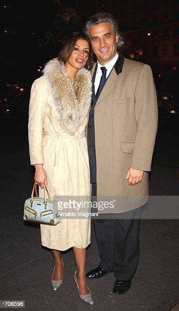 Model and former girlfriend of Donald Trump Kara Young and her boyfriend Peter Georgiopolis leave a restaurant March 21 2002 in New York City...