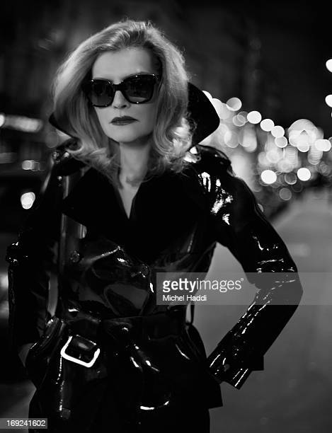 Model and former muse to Helmut Newton Sylvia Gobbel is photographed on January 30 2013 in Paris France Credits StylingMelissa MooreHairVinz for...