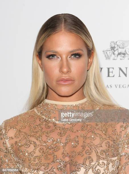 Model and former professional wrestler Barbie Blank attends the ninth annual Fighters Only World Mixed Martial Arts Awards at The Palazzo Las Vegas...